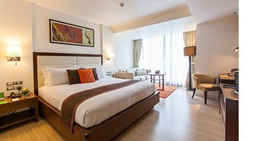 Stay in the heart of Bangkok at a specially discounted rate with complimentary breakfast, Wi-Fi and late check-out