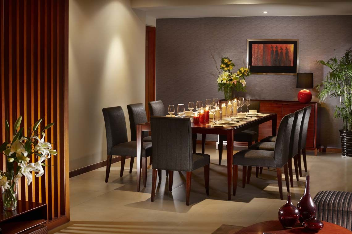 Oakwood Residence Shanghai's three-bedroom executive's dining area