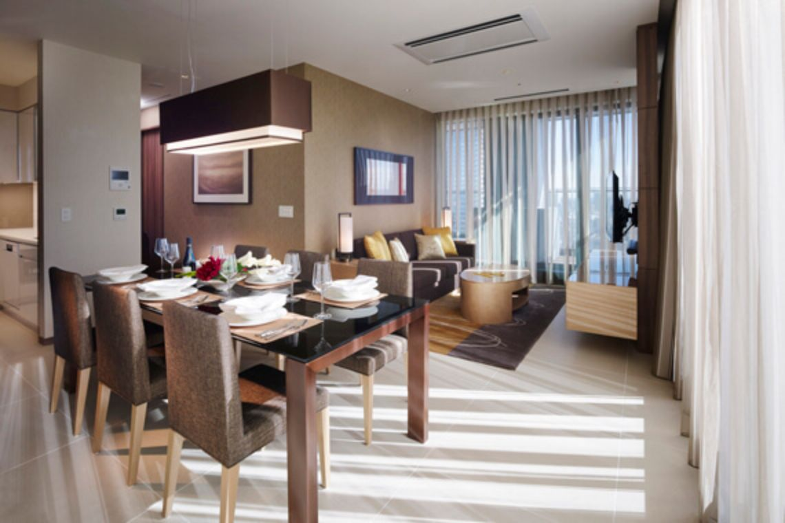 Oakwood Premier Tokyo's two-bedroom apartment