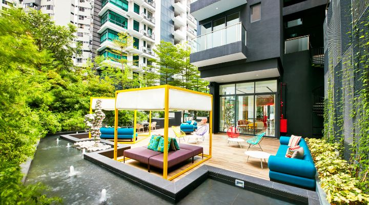 Oakwood Studios Singapore's Alfresco