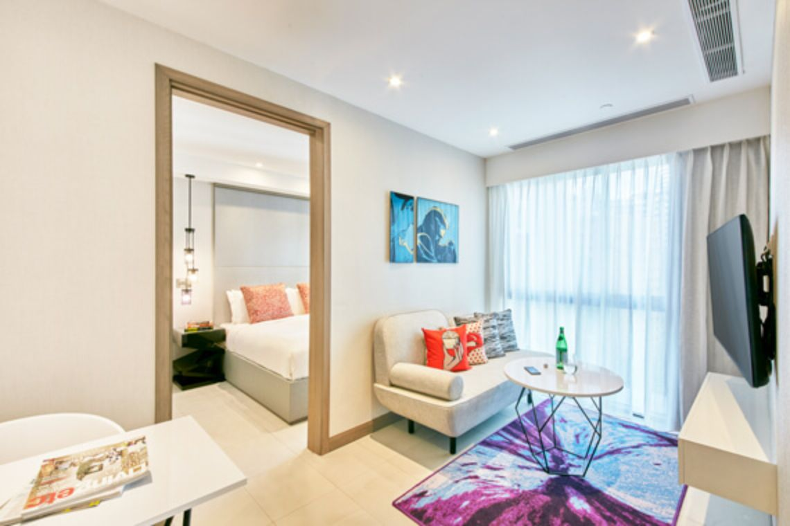 Oakwood Studios Singapore's two-bedroom apartment