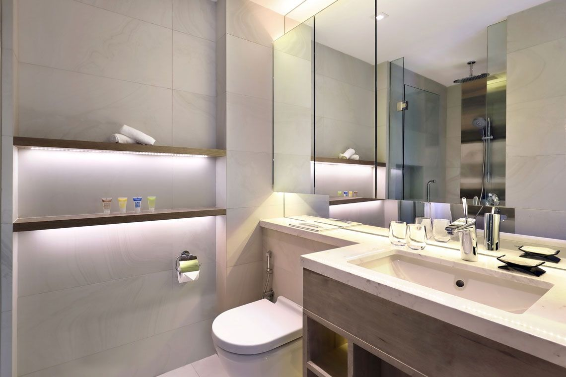 Oakwood Studios Singapore's two-bedroom family deluxe apartment
