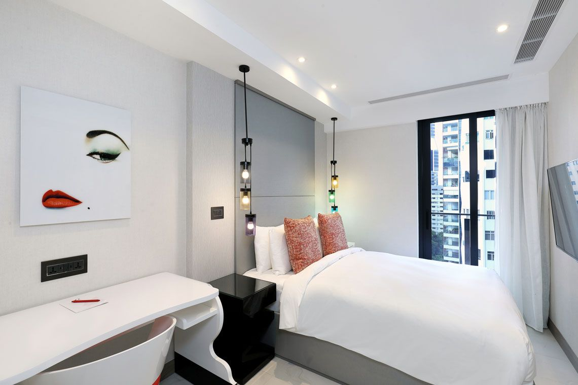 Oakwood Studios Singapore's two-bedroom deluxe apartment