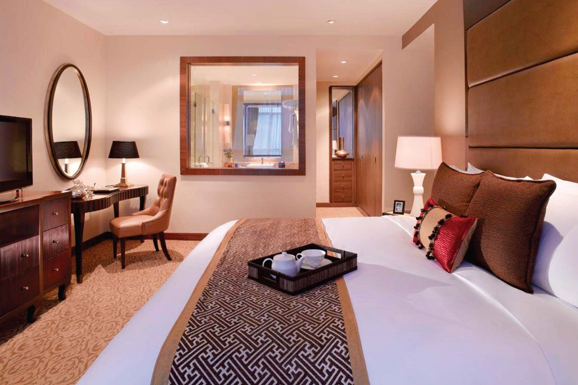 Oakwood Premier Cozmo Jakarta's two-bedroom executive apartment's master bedroom
