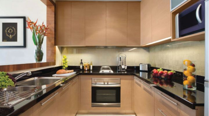 Oakwood Premier Cozmo Jakarta one-bedroom executive apartment's kitchen