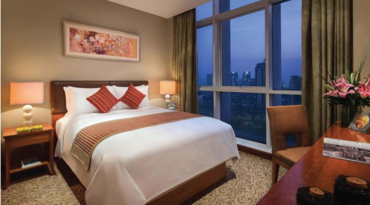 Oakwood Premier Cozmo Jakarta two-bedroom executive apartment's second bedroom