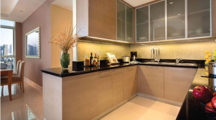 Oakwood Premier Cozmo Jakarta two-bedroom executive apartment's kitchen