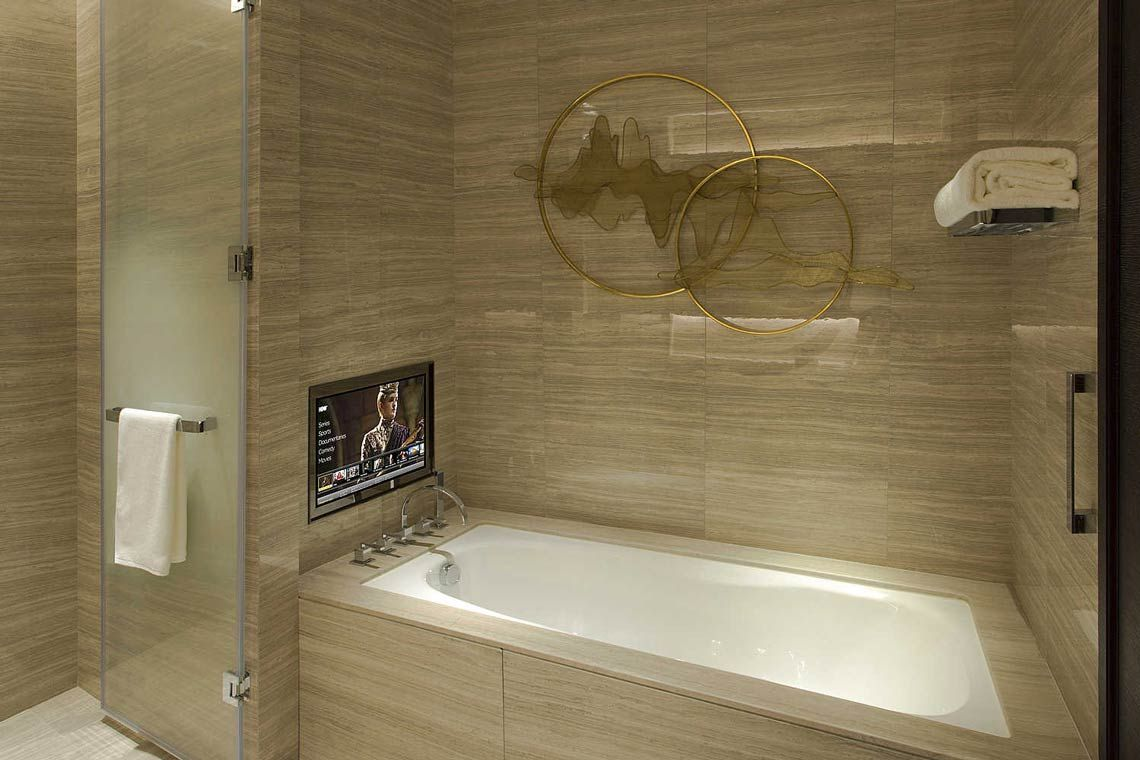 Oakwood Residence Damei Beijing's two-bedroom apartment's bathroom
