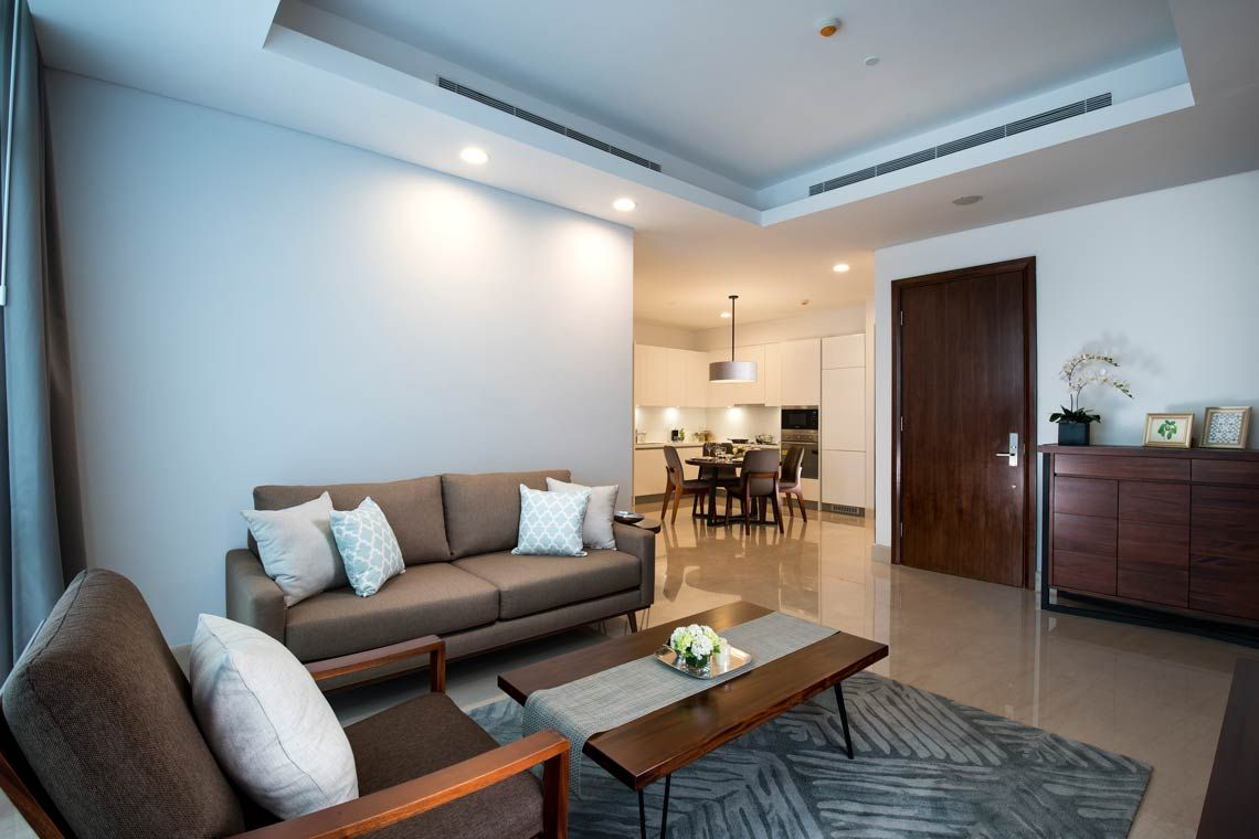 Oakwood Suites La Maison Jakarta two-bedroom exclusive apartment's living room