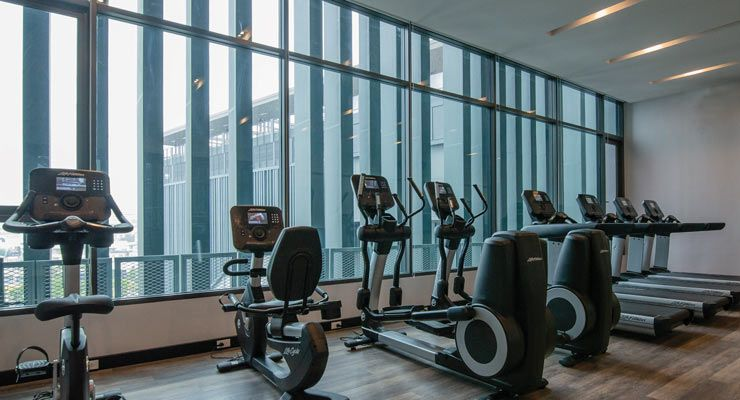 Oakwood Hotel & Residence Sri Racha provide 24 hours fitness center with fully equipment