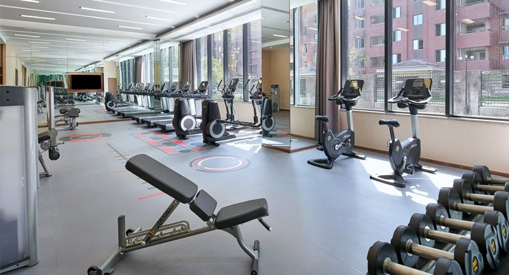 Oakwood Apartments Yangzhou's fitness center