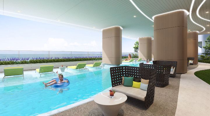 Oakwood Apartments Sanya's swimming pool
