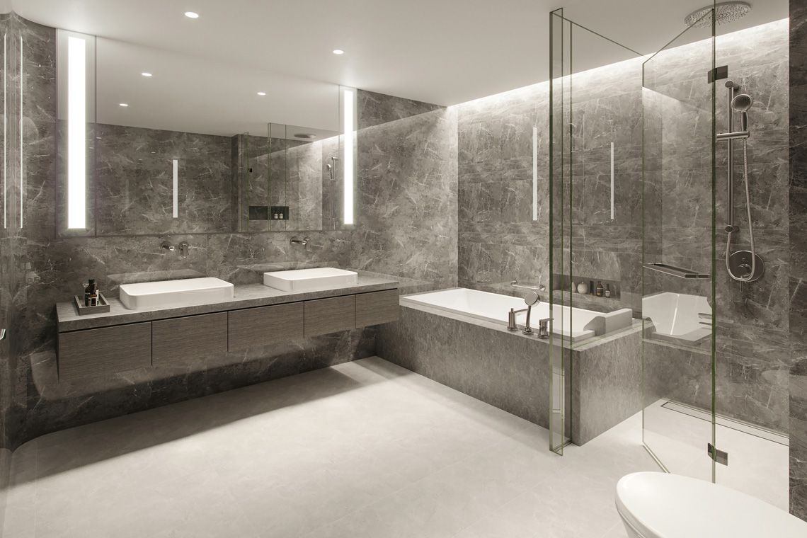 Oakwood Apartments Sanya's three-bedroom apartment's bathroom