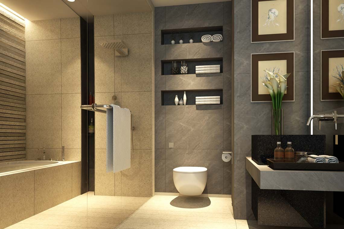 Oakwood Apartments Sanya's studio apartment's bathroom