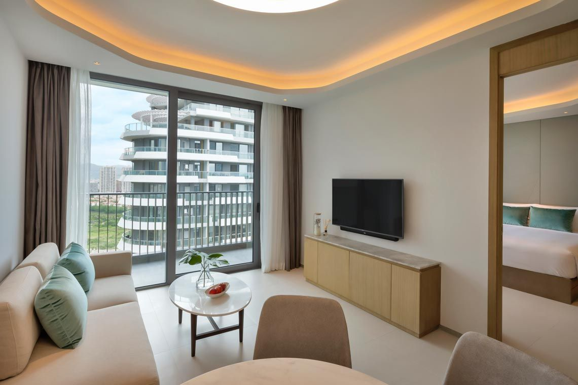 Oakwood Apartments Sanya's one-bedroom deluxe garden apartment