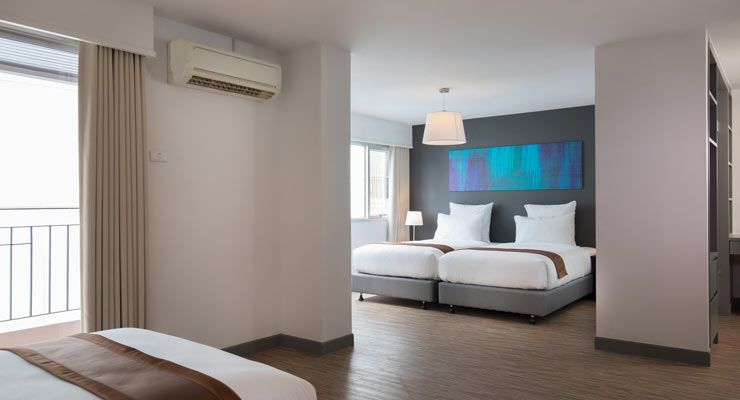 Oakwood Hotel Journeyhub Pattaya's family suite layout