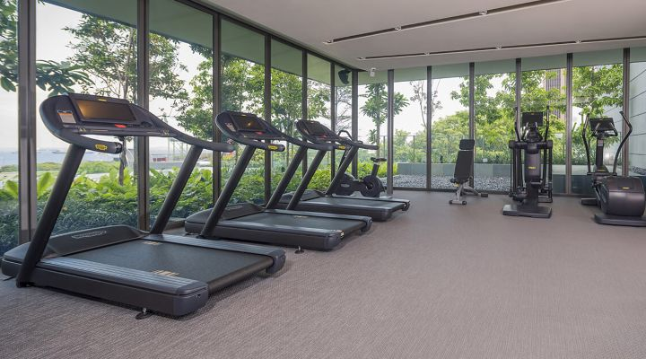 Oakwood Premier OUE Singapore's fitness center