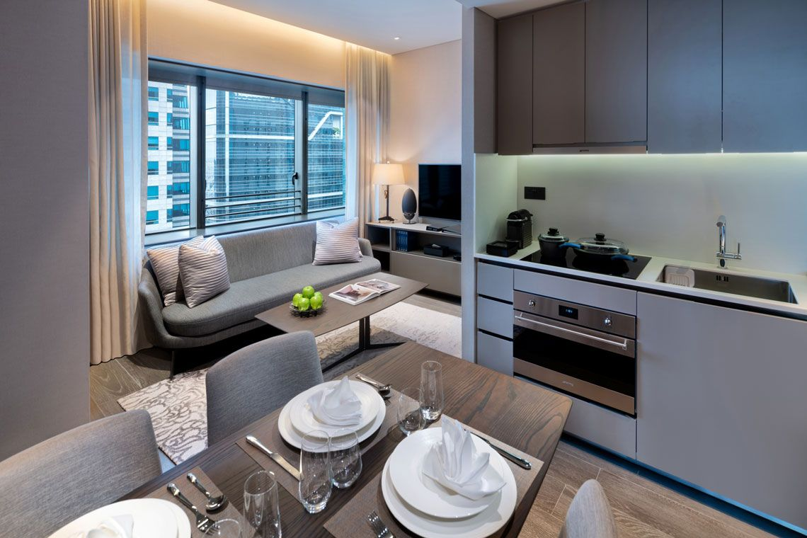 Oakwood Premier OUE Singapore's two-bedroom deluxe apartment