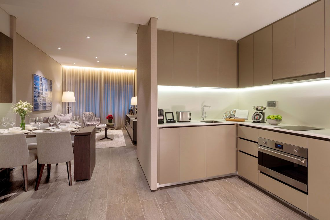 Oakwood Premier OUE Singapore's one-bedroom executive apartment's kitchen