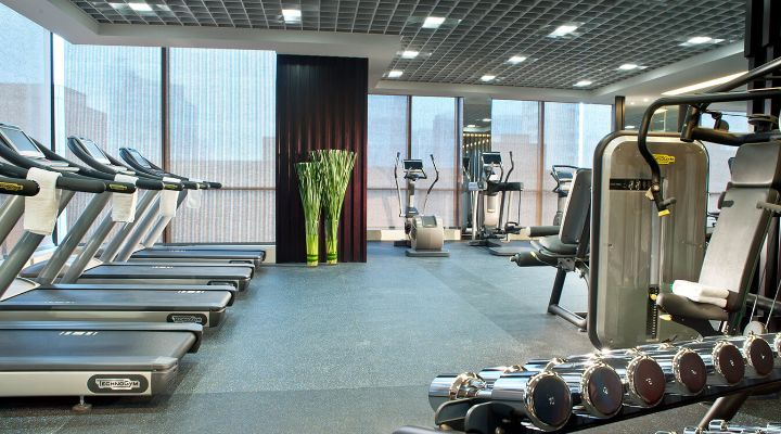 Oakwood Premier Guangzhou's fitness center
